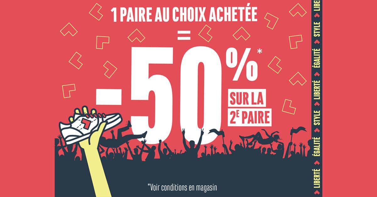 -50% sur la 2e paire*